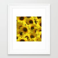 sunflowers Framed Art Prints featuring Sunflowers by LLL Creations