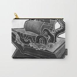 Kraken Open a Book Carry-All Pouch