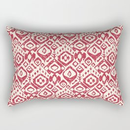 lezat red Rectangular Pillow