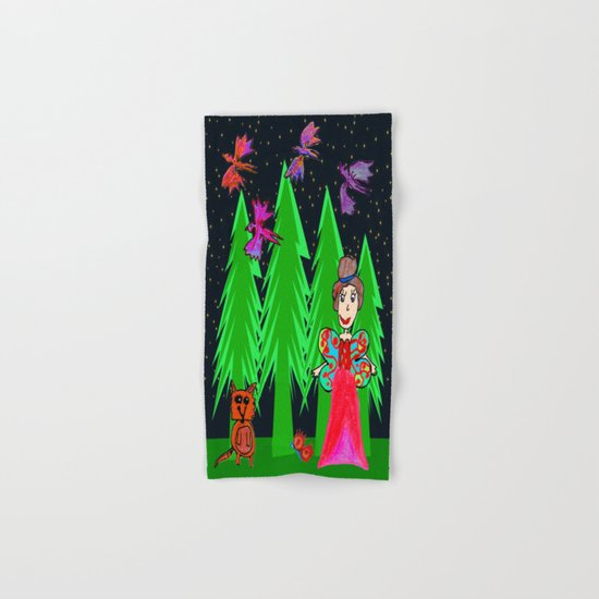 Night Fairy | Before Christmas | Kids Painting Hand & Bath Towel