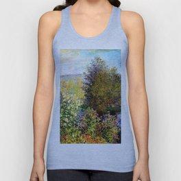 Claude Monet : A Corner of the Garden at Montgeron Unisex Tank Top