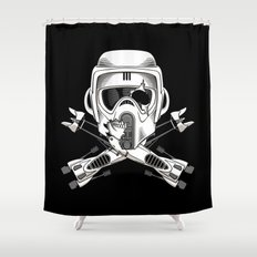 Jolly Biker Shower Curtain