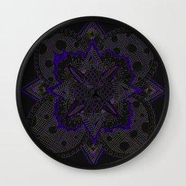 Divine Intention 5: Solar Purp Wall Clock