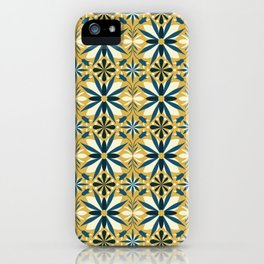 Geometrical flowers iPhone Case
