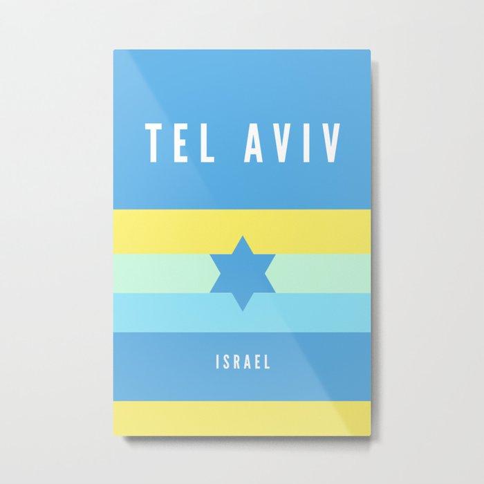 Tel Aviv Israel Minimalist Travel Artwork Metal Print