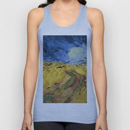 Wheatfield with Crows by Vincent van Gogh Unisex Tank Top