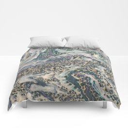 Metallic Marbled Agate Comforters