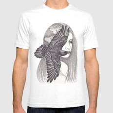 Crow MEDIUM Mens Fitted Tee White