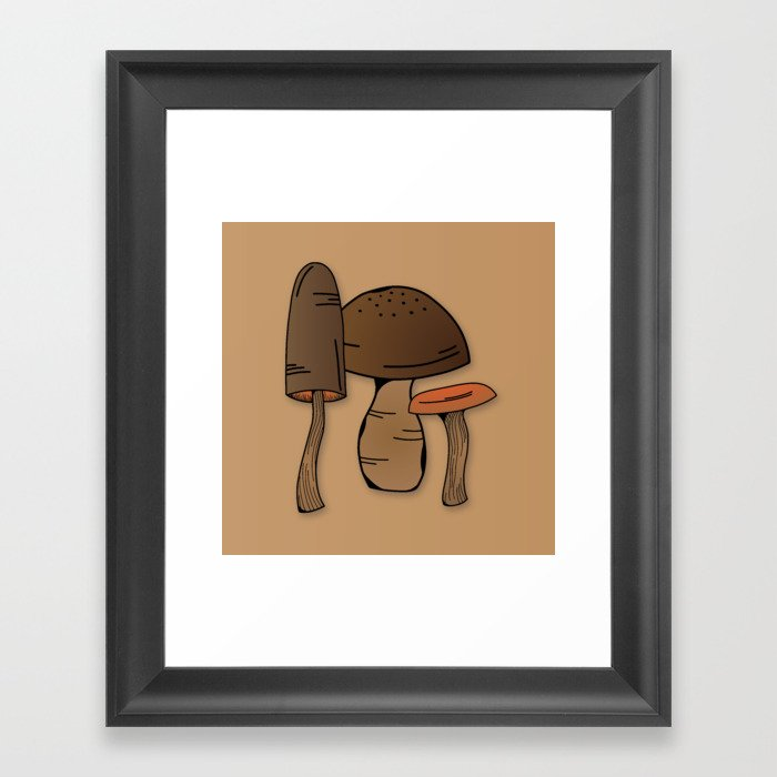 Wild mushroom Gerahmter Kunstdruck