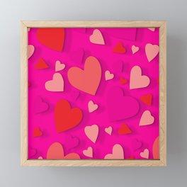 Decorative paper heart 3 Framed Mini Art Print