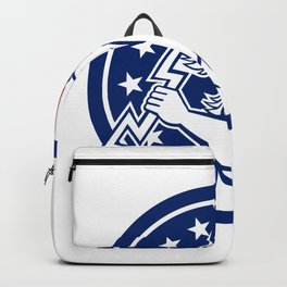 Zeus With Thunderbolt USA Flag Icon Backpack