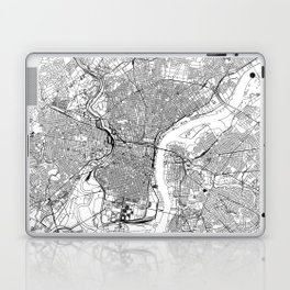 Philadelphia White Map Laptop & iPad Skin