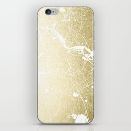 Amsterdam Gold on White Street Map iPhone Skin