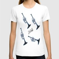 trumpet T-shirts featuring TRUMPET  by Robleedesigns