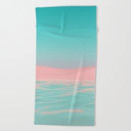 Pink Beach Beach Towel