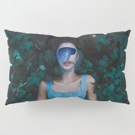 Portrait of a young woman lying Pillow Sham
