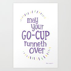 Go-Cup (type only) Art Print