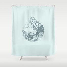 Underwater landscape Shower Curtain