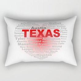 Texas Heart Rectangular Pillow