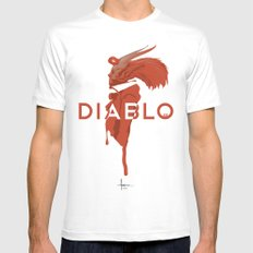 DIABLO409 MEDIUM Mens Fitted Tee White