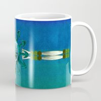 native american Mugs featuring Of Sky Native American by BohemianBound