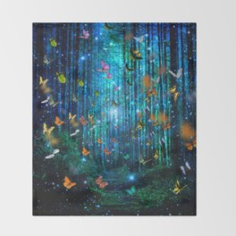Magical Path Butterflies Throw Blanket