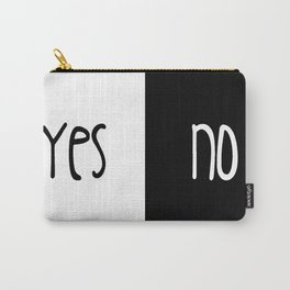 Yes/No Carry-All Pouch