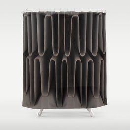 Industrial Waves   Metal Coils Abstract   Contemporary Art Shower Curtain
