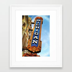 Michigan Theater, Ann Arbor Framed Art Print