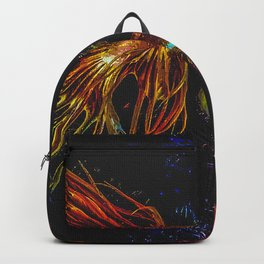 Gold Crowntail Betta Fish Backpack