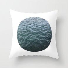 Planetary Bodies - Water Throw Pillow