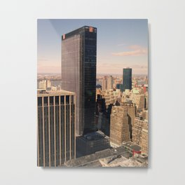NYC Overview to 1 Penn Plaza Metal Print