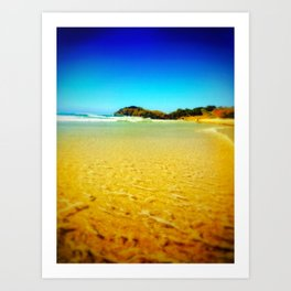 sandy days Art Print