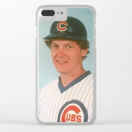 Jody Davis : Catcher : Cubs : Vintage Baseball Photograph Clear iPhone Case