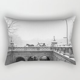 Carriage Ride in Central Park Rectangular Pillow