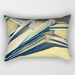 Paper Fold - Cold tones Rectangular Pillow