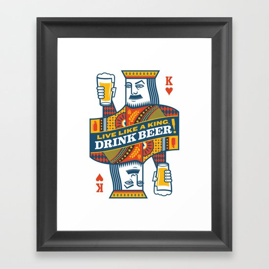 King of Beers Framed Art Print
