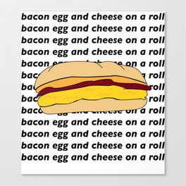 bacon egg and cheese Canvas Print