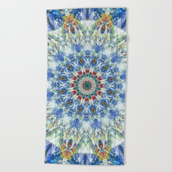 Kaleidoscope No. 3 - Blue Beach Towel