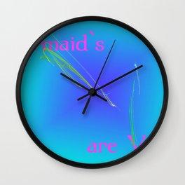 Memaid s are Vegan Wall Clock