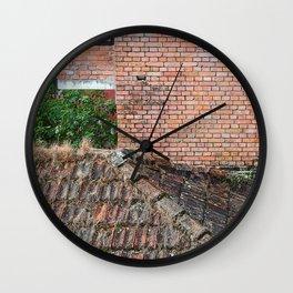 NEPALI BRICKS AND ROOFS Wall Clock