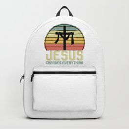 Jesus Changes Everything Backpack
