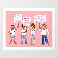 FamilesBelong Together Art Print