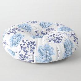 Sky Blue Roses Floor Pillow