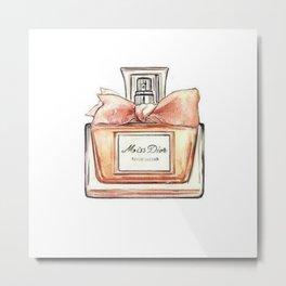 Perfume Bottle Watercolor Metal Print