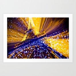 Supernova Eiffel Art Print