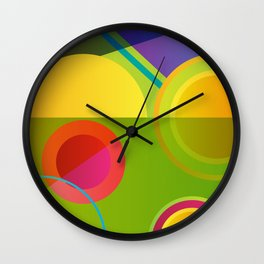 GEOMETRIC GROOVE 1 Wall Clock