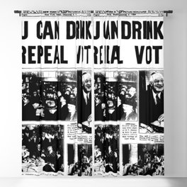 You Can Drink! 1933 Newspaper Prohibition Blackout Curtain