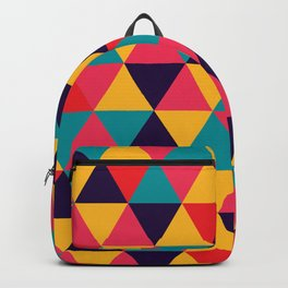 Colorful Triangles (Bright Colors) Backpack