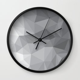 Gray Polygon Background Wall Clock